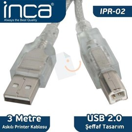 INCA IPR-02 3 Metre Usb 2.0 Printer Kablosu