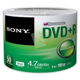 Sony 50DPR47SB 16x DVD+R 4.7GB 50'Li Shrink