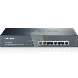 TP-LINK TL-SG1008PE 8-Port 10/100/1000 Desktop Rackmount Switch + 8 Port PoE