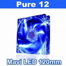 Thermaltake CL-F012-PL12BU-A Pure High Performance 120 mm Mavi LED'li Sessiz Fan