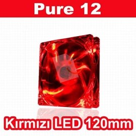 Thermaltake CL-F019-PL12RE-A Pure High Performance 120mm Kırmızı LED'li Sessiz Fan