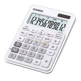 Casio MS-20NC-WE-S-DC(CN) Beyaz 12 Haneli Hesap Makinesi