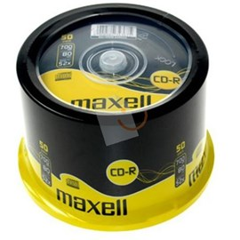 MAXELL 628523 CD-R 52X 700mb 50'li Cakebox