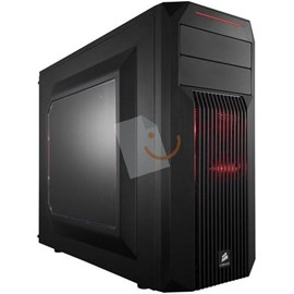 Corsair CC-9011051-WW Carbide Series SPEC-02 Red LED Mid-Tower Psu'suz Siyah Kasa