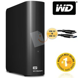"Western Digital WDBWLG0030HBK-EESN Elements Desktop 3TB Usb 3.0/2.0 3.5"" Disk"