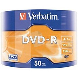 Verbatim 43791 DVD-R Matt Silver 4.7GB 16x 50 Li Spindle