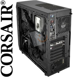 Corsair CC-9011050-550VS Carbide Series SPEC-01 Red LED Mid-Tower 550W Siyah Kasa