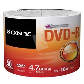 Sony 50DMR47SB 16x DVD-R 4.7GB 50'Li Shrink
