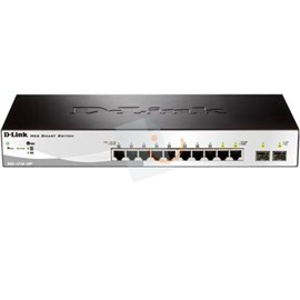 D-Link DGS-1210-10P 8x10/100/1000BASE-T PoE + 2xCombo 10/100/1000BASE-T/MINIGBIC (SFP) Gigabit Smart III Switch
