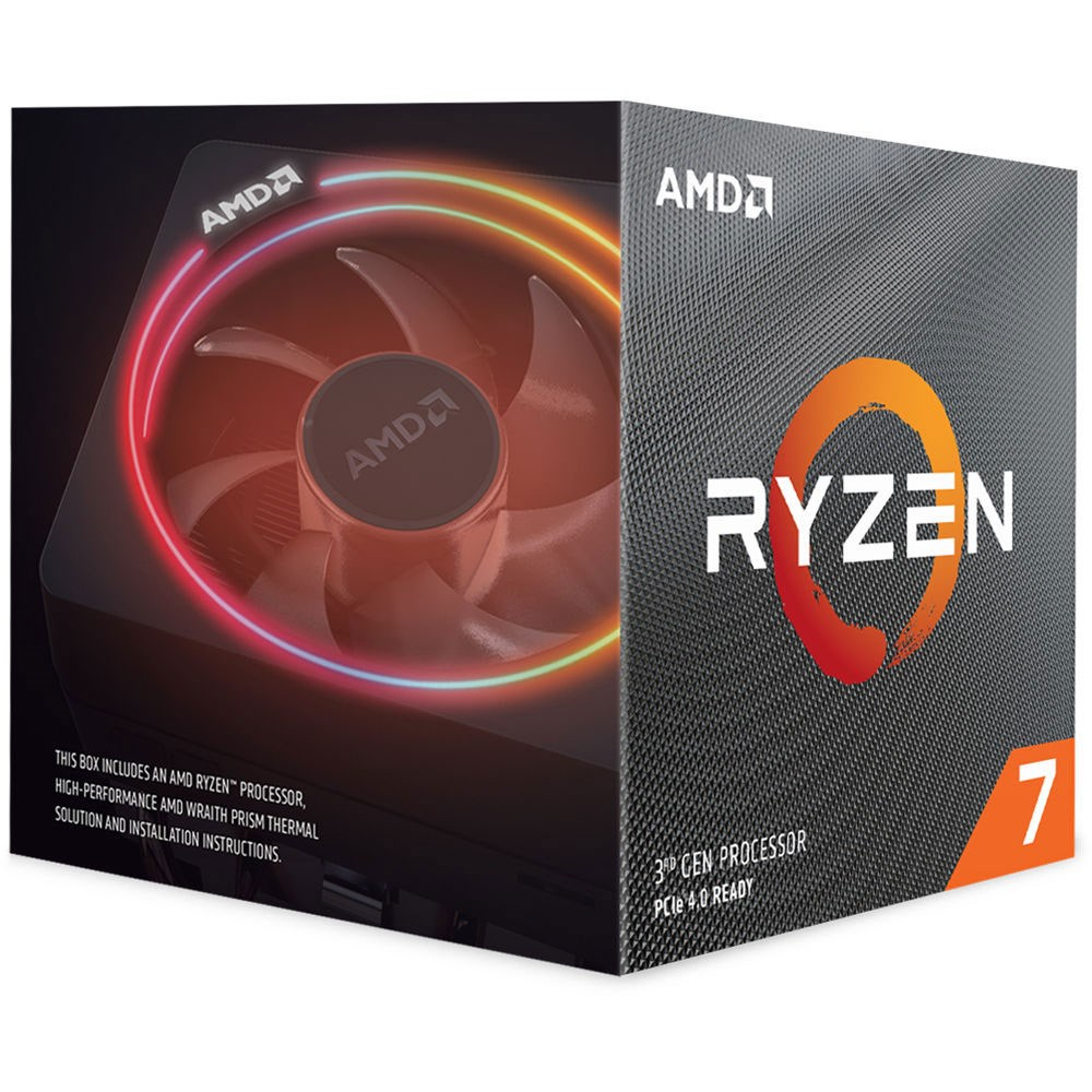 AMD Ryzen 7 3700X 4.4GHz 36MB Wraith Prism 65W 7nm AM4 İşlemci