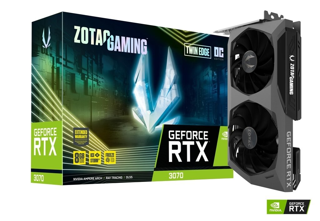 Zotac RTX3070 TWIN EDGE OC 8GB  ZT-A30700H-10P