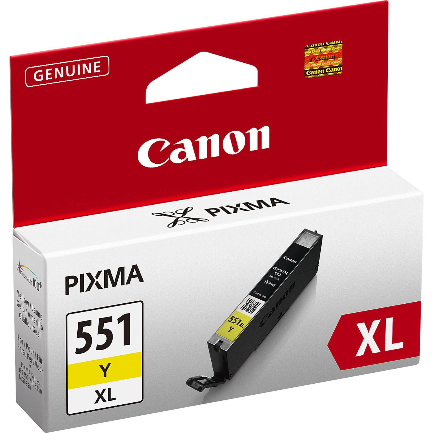 Canon CLI-551XL Y Yellow Sarı Kartuş 6446B001 IP7250 MG5450 MG6350