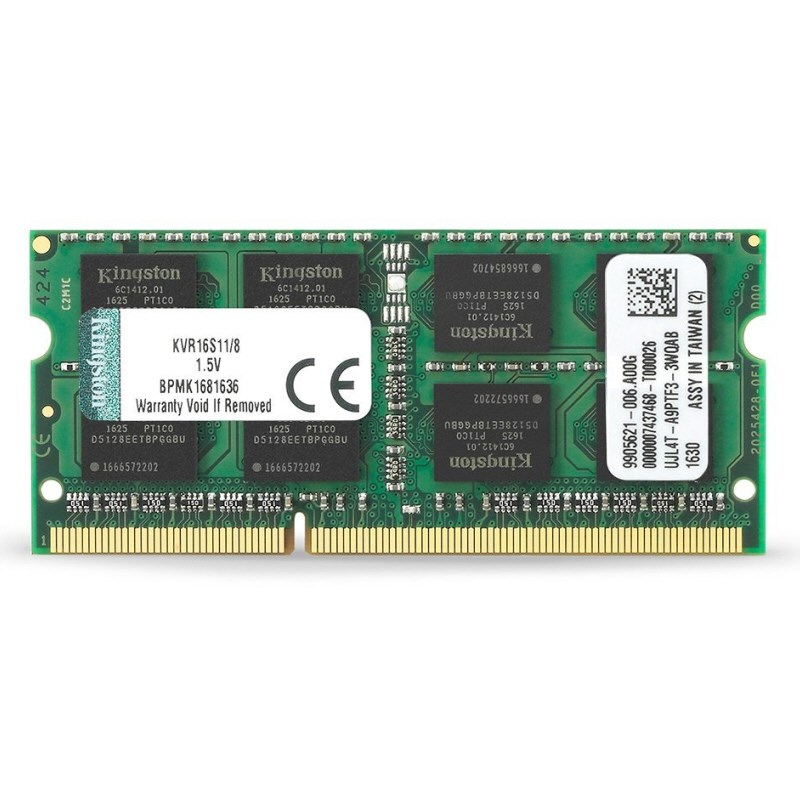 Kingston KVR16S11/8 8GB 1600MHz DDR3 CL11 SODIMM
