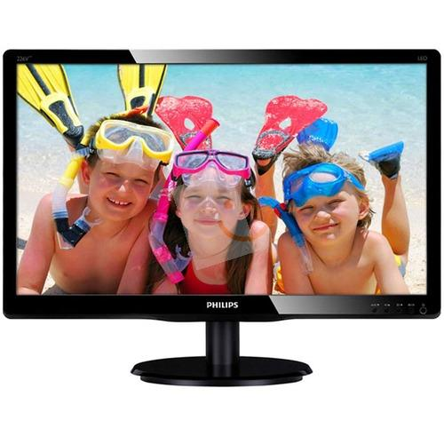 Philips 226V4LAB/01 21.5 5ms Full HD DVI Hoparlör Siyah Led Monitör