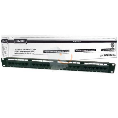 Digitus DN-91624U 19 24 Port Cat-6 UTP Patch Panel