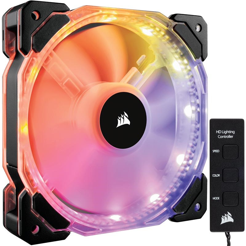 Corsair CO-9050066-WW HD120 RGB LED Yüksek Performans Kontrol Üniteli 120mm PWM Fan