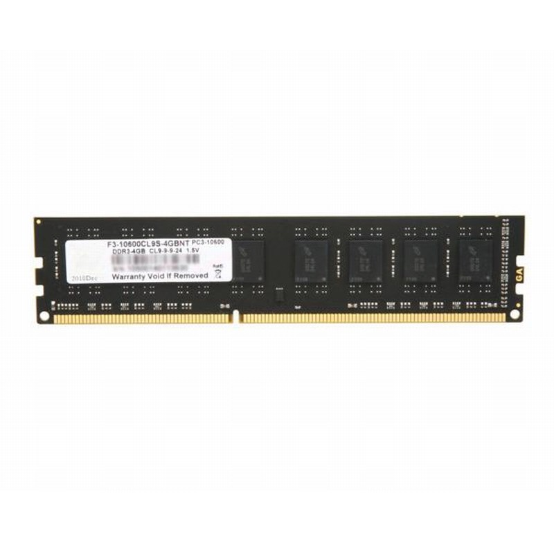 G.SKILL F3-10600CL9S-4GBNT Value DDR3 1333Mhz CL9 4GB