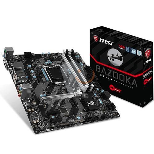 MSI H270M BAZOOKA DDR4 M 2 HDMI DVI 16x Lga1151 mAtx