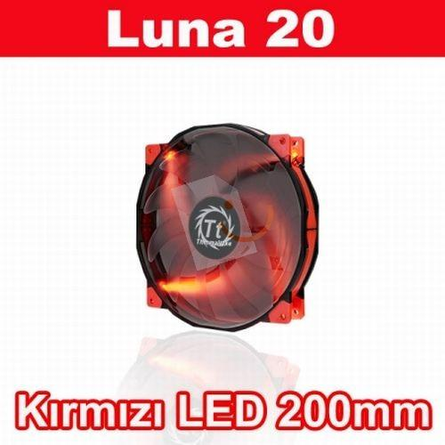 Thermaltake CL-F025-PL20RE-A Luna Anti-Vibration 200 mm Kırmızı LEDli Sessiz Fan