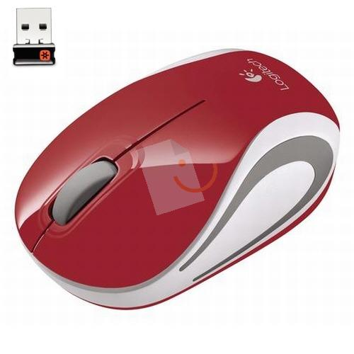 Logitech Wireless Mini Mouse M187 Kırmızı 910-002732