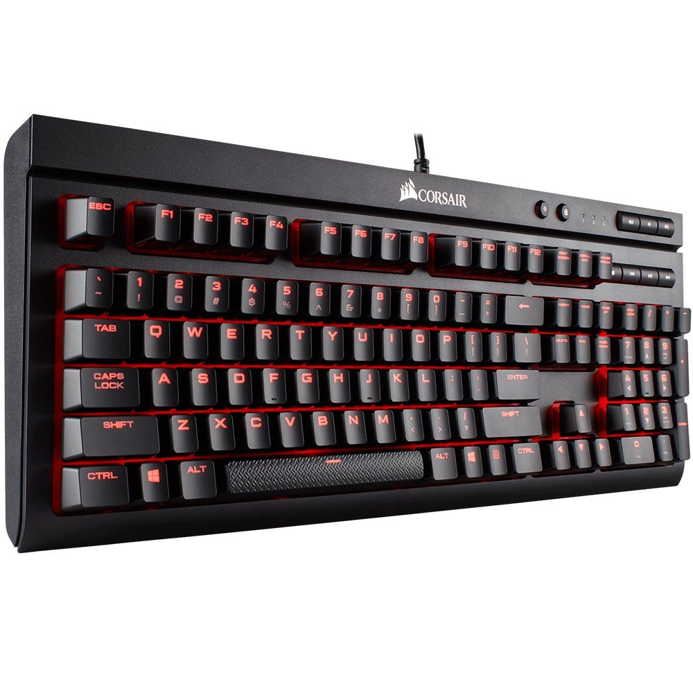 Corsair K68 Red LED Işıklı Mekanik Cherry MX Red CH-9102020-TR Gaming Q TR Klavye