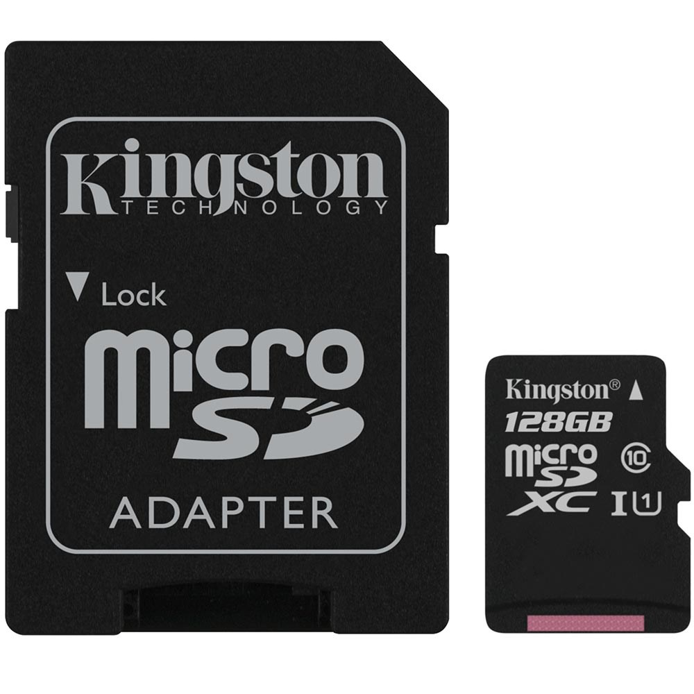 Kingston SDCS/128GB Canvas Select 128GB microSDXC C10 UHS-I 80MB Bellek Kartı
