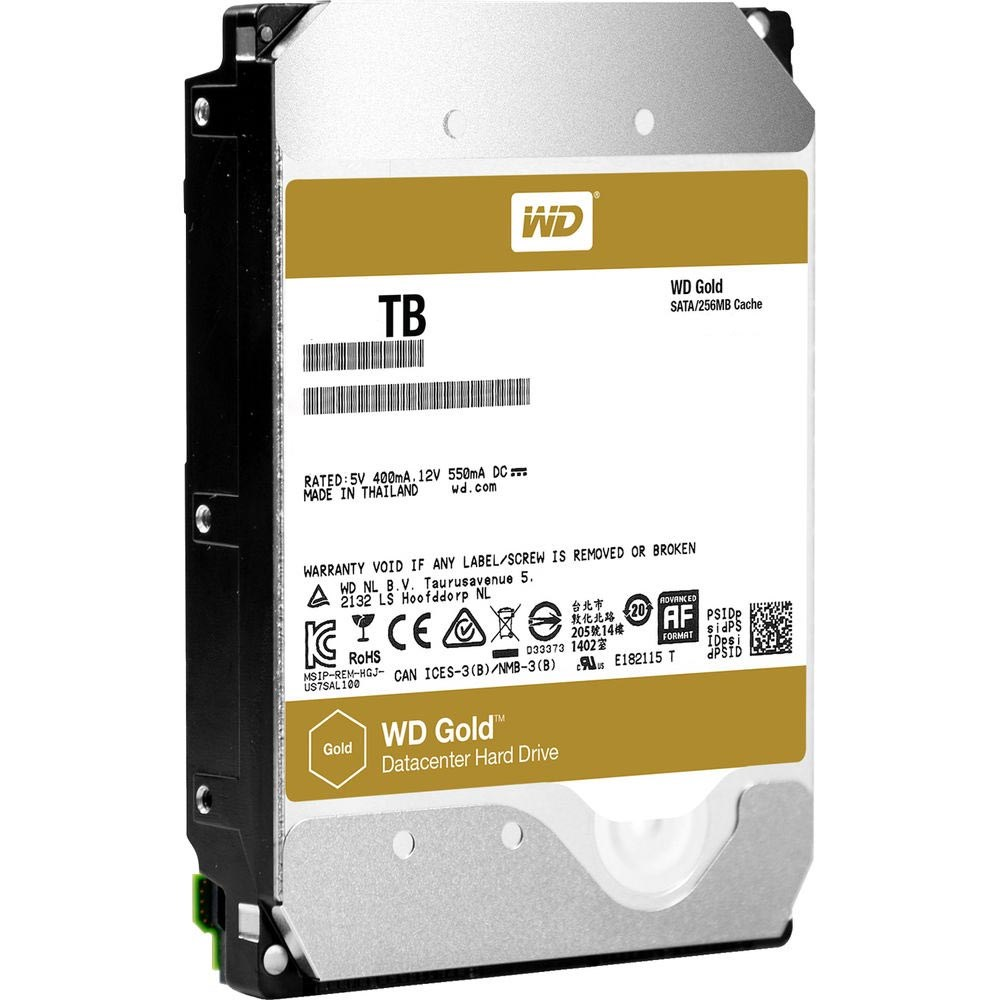 Western Digital WD101KRYZ Gold Enterprise 10TB 256MB 7200Rpm Sata3 3.5 Disk