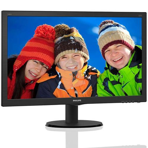 Philips 240V5QDAB/00 24 14ms Full HD DVI-D HDMI Hoparlör IPS-ADS Led Monitör