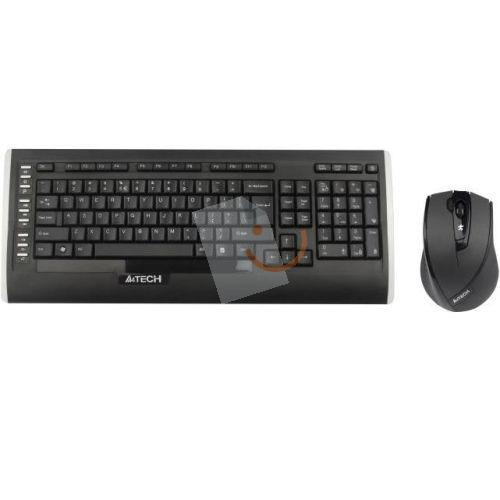A4 Tech 9300F Kablosuz Siyah F TR Multimedya Klavye-Optik Mouse Seti