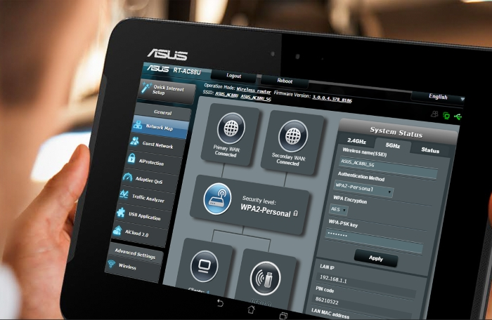 Asus router WRT demo