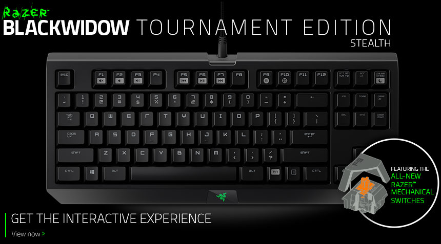 BlackWidow Tournament Stealth Edition
