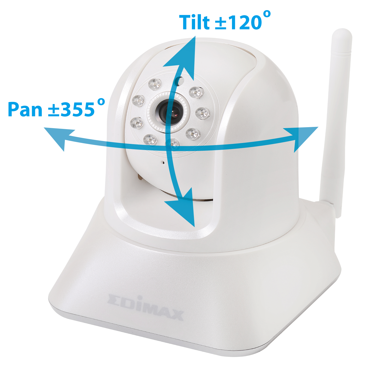 IC-7001W Wireless Day & Night PT Network Camera IC-7001W_Pan_Tilt.png