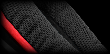 G230 ear cup close up of sports performance cloth covering